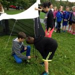 Rothesay Park School children set up a Malaise Trap