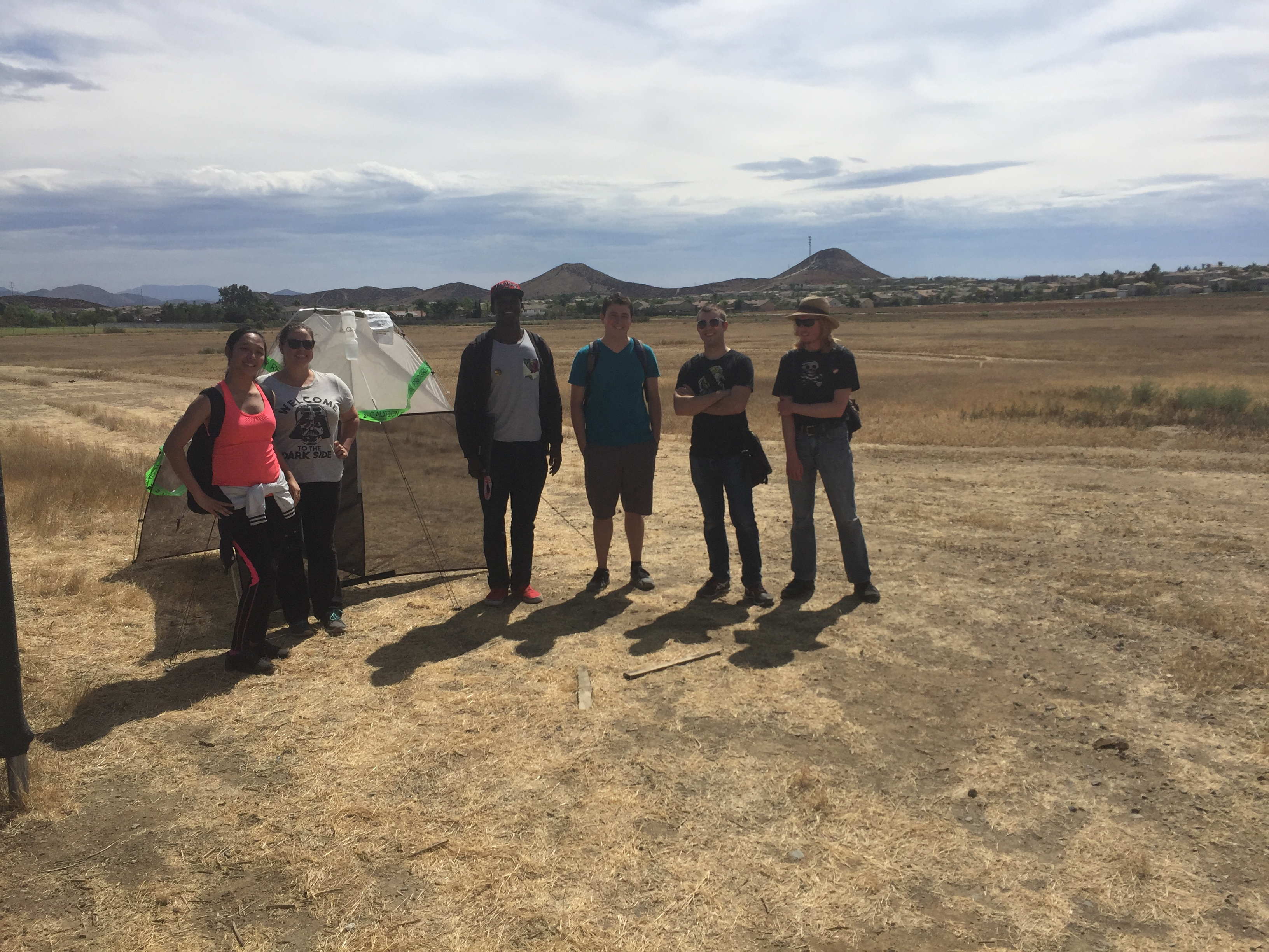 Mt. San Jacinto College students by our Malaise trap